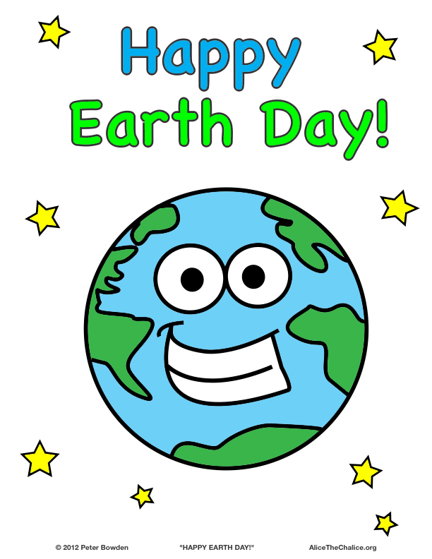 Earth Day Mr Is Very Happy Today Coloring Page