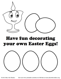 Alice the Chalice - Decorate your own Easter Eggs!