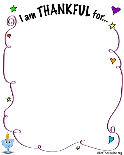 """I Am Thankful For"" Activity Sheet Preview"