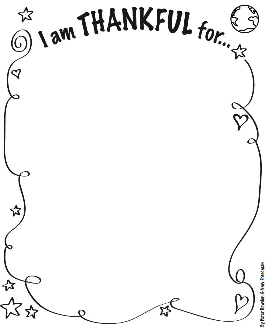 I Am Thankful For Activity Sheet Alice the Chalice